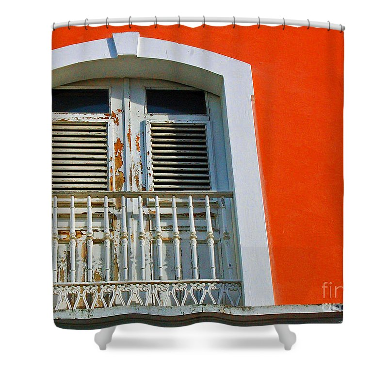 Shutters Shower Curtain featuring the photograph Peel An Orange by Debbi Granruth