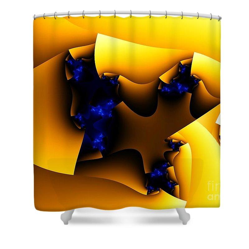 Fractal Art Shower Curtain featuring the digital art Peeling Away by Ron Bissett