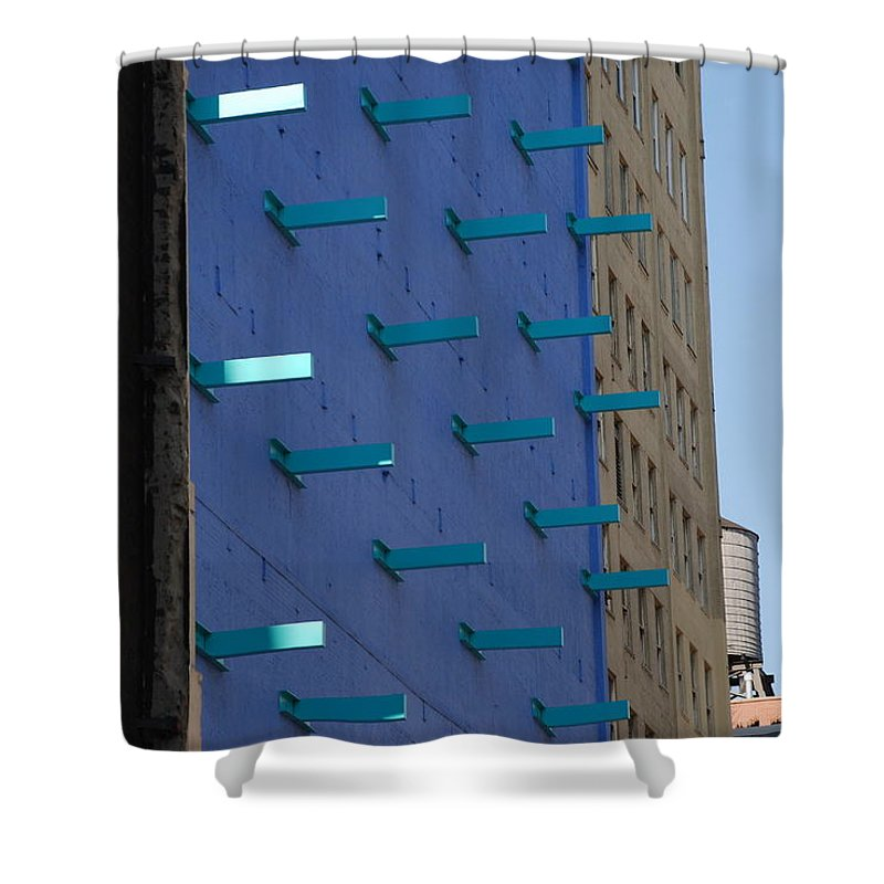 Architecture Shower Curtain featuring the photograph Peg Board by Rob Hans