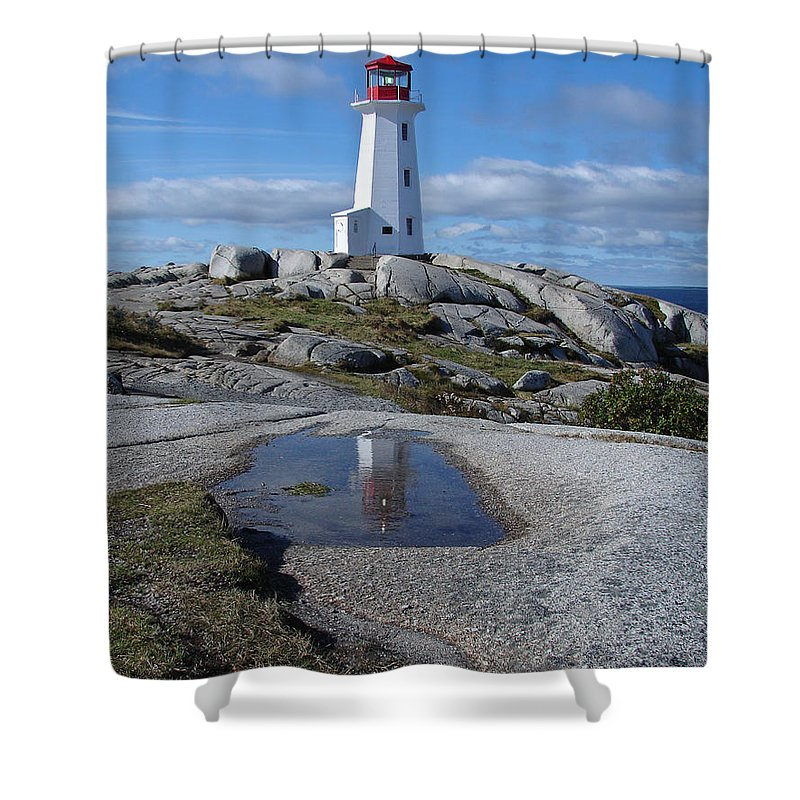 Seascape Shower Curtain featuring the photograph Peggys Cove Nova Scotia Canada by Heather Coen