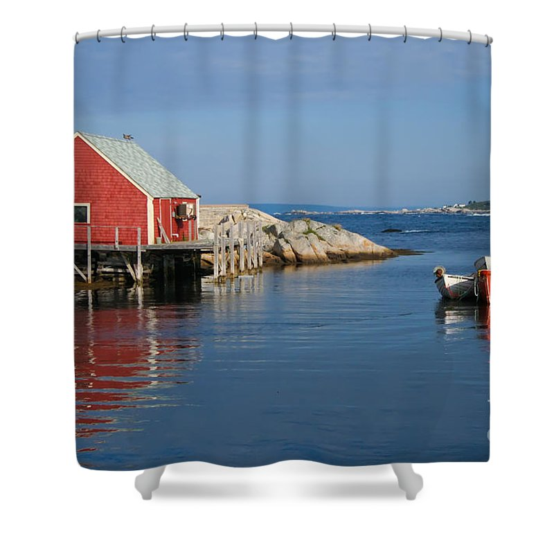 Peggy's Cove Shower Curtain featuring the photograph Peggys Cove by Thomas Marchessault