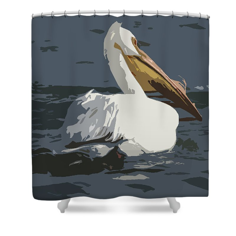 Pelican Shower Curtain featuring the photograph Pelican Cut Out by Heather Coen