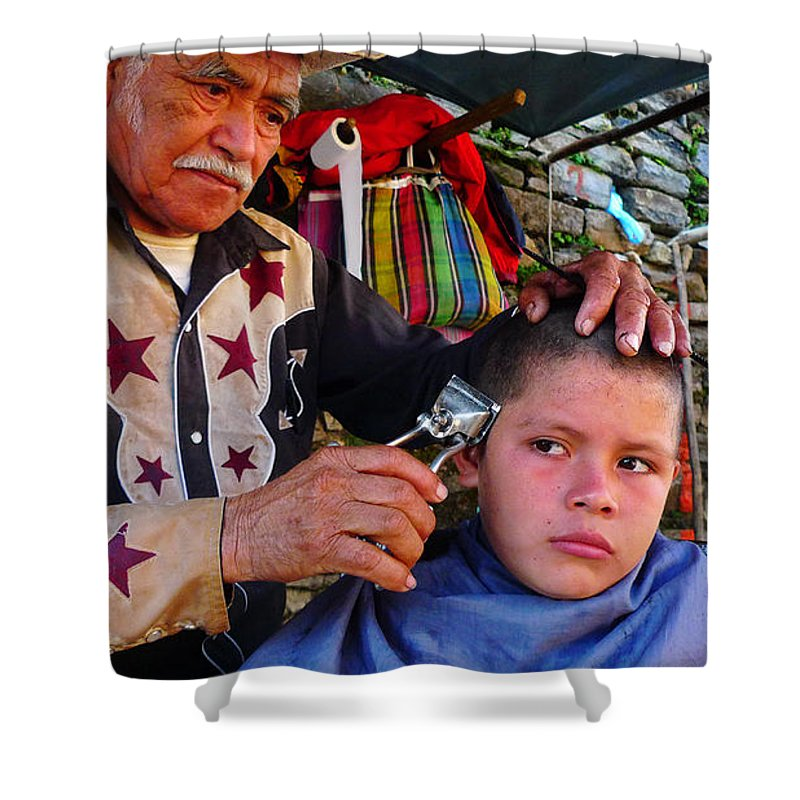 Skip Hunt Shower Curtain featuring the photograph Peluquero Dos by Skip Hunt