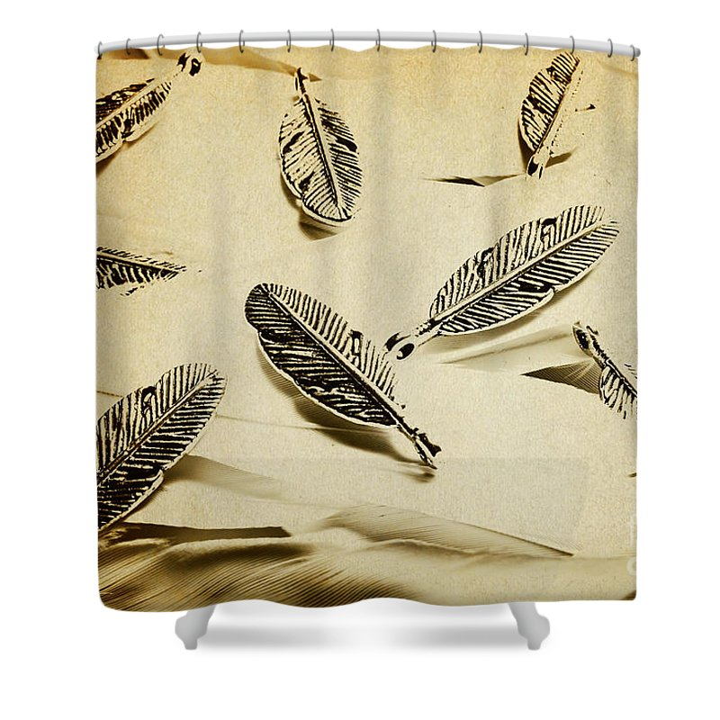 Vintage Shower Curtain featuring the photograph Pendants And Quills by Jorgo Photography - Wall Art Gallery