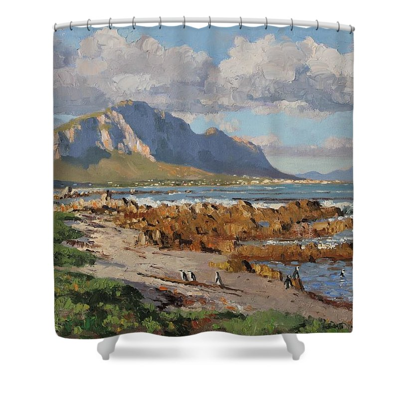 African Penguin Shower Curtains