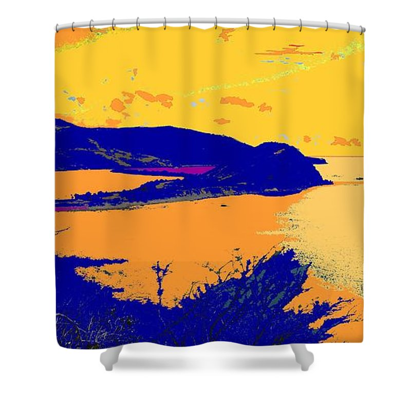 St Kitts Shower Curtain featuring the photograph Peninsula Orange by Ian MacDonald
