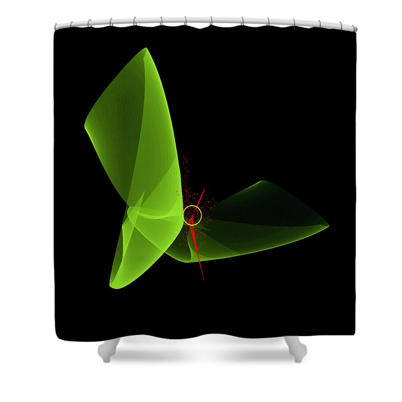 Original Shower Curtain featuring the painting Penman Original-149 by Andrew Penman