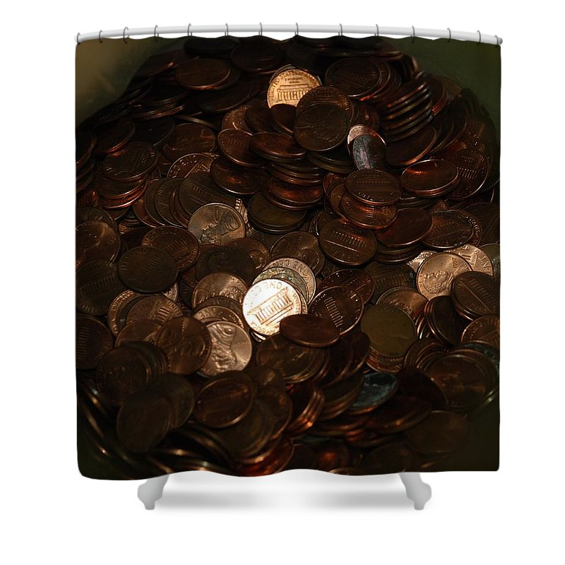 Pennies Shower Curtain featuring the photograph Pennies by Rob Hans