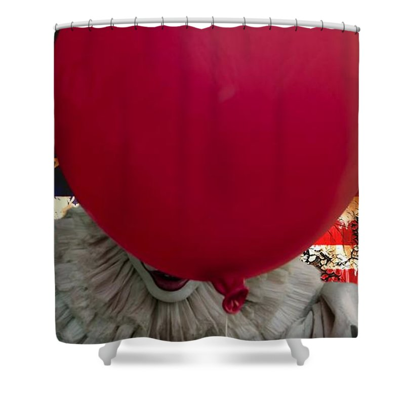 Pennywise American Flag Shower Curtain for Sale by Dustin Clutterbuck
