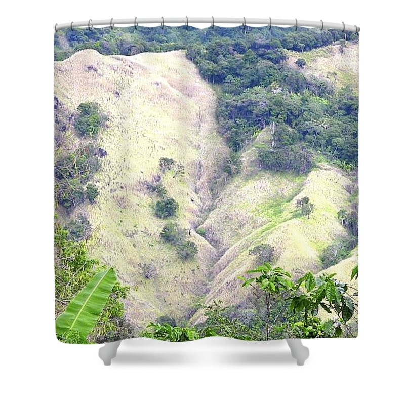 Penuelas Shower Curtain featuring the photograph Penuelas, Puerto Rico Mountains by Walter Rivera Santos