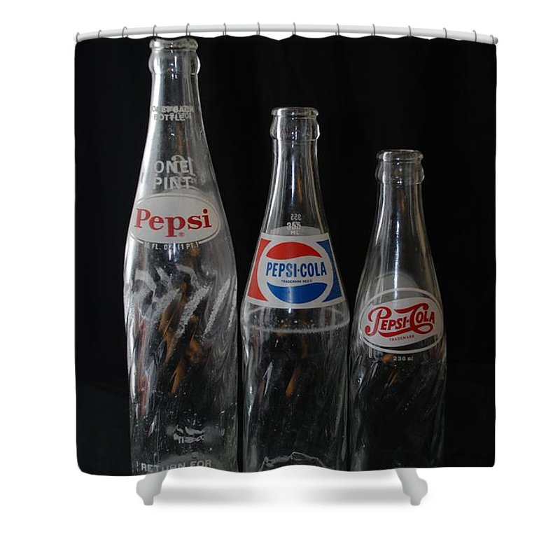 Pepsi Cola Shower Curtain featuring the photograph Pepsi Cola Bottles by Rob Hans