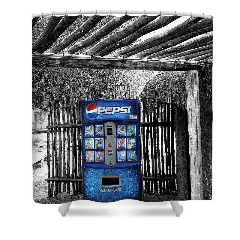 Living Desert Shower Curtain featuring the photograph Pepsi Generation Palm Springs by William Dey