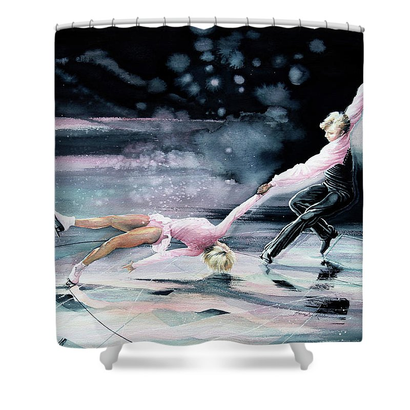 Olympic Figure Skating Paintings Shower Curtains
