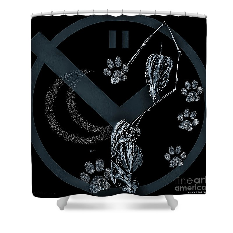 Black And White Shower Curtain featuring the digital art Perfect Imperfect Bw by Mona Stut