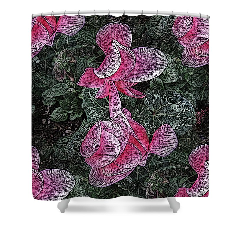 Pink Shower Curtain featuring the digital art Perfectly Pink by Tim Allen
