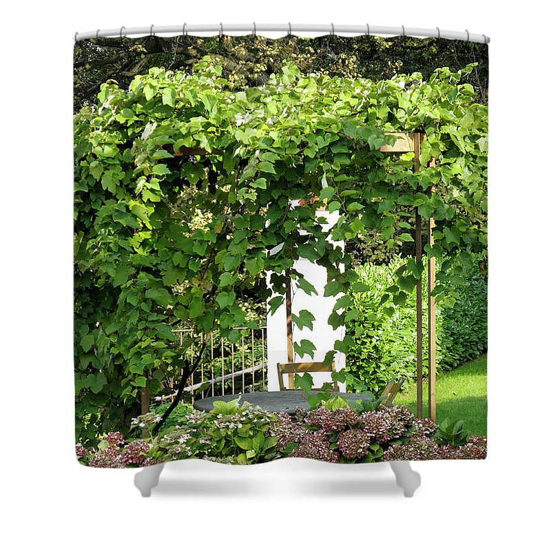 Horizontal Shower Curtain featuring the photograph Pergola by Stefania Levi