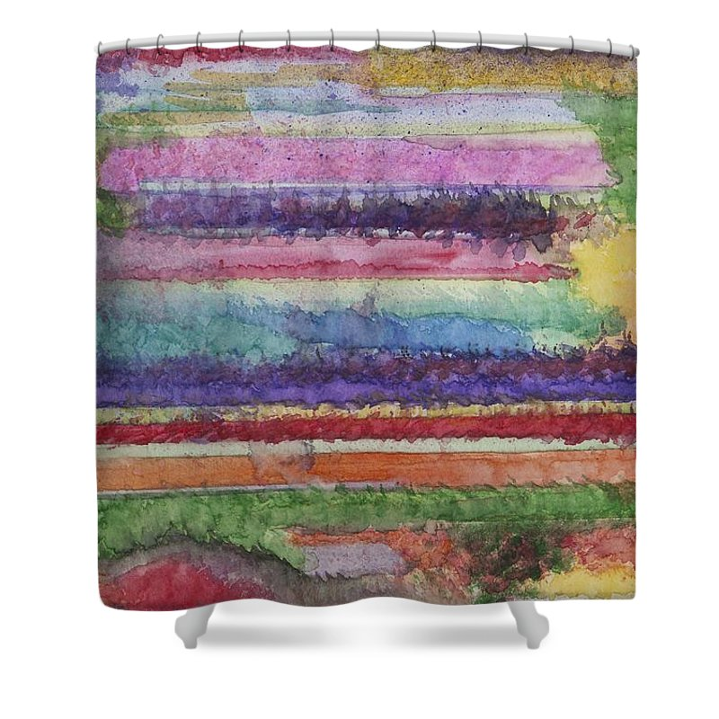 Colorful Shower Curtain featuring the painting Perspective by Jacqueline Athmann