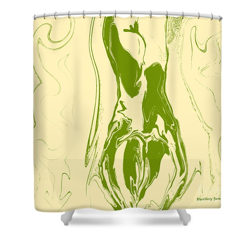 Perspective Shower Curtain featuring the digital art Perspective by Shelley Jones