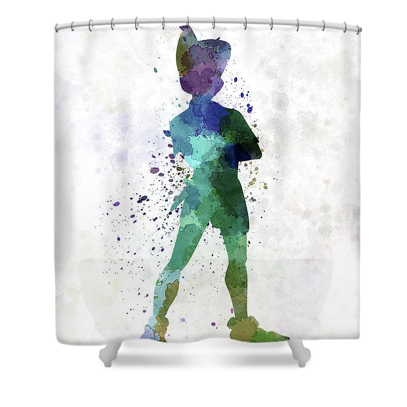 Peter Pan Watercolor Illustration Disney Painting Splatter Spray Cartoon