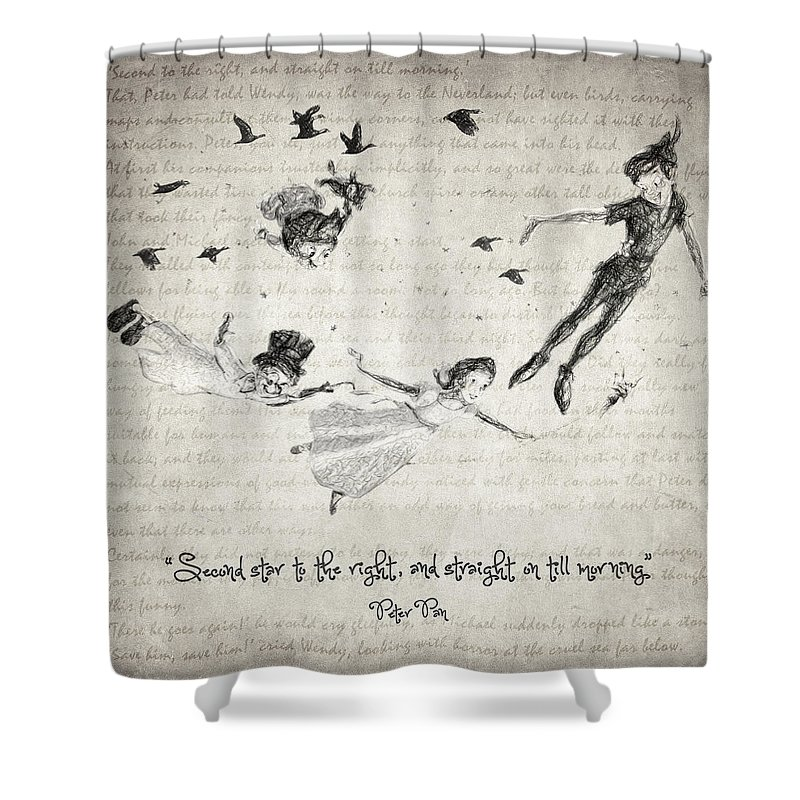 Peter Pan Quote Shower Curtain For Sale By Zapista