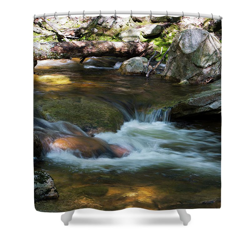 Waterfall Shower Curtain featuring the photograph Peters Kill On A May Morning by Jeff Severson