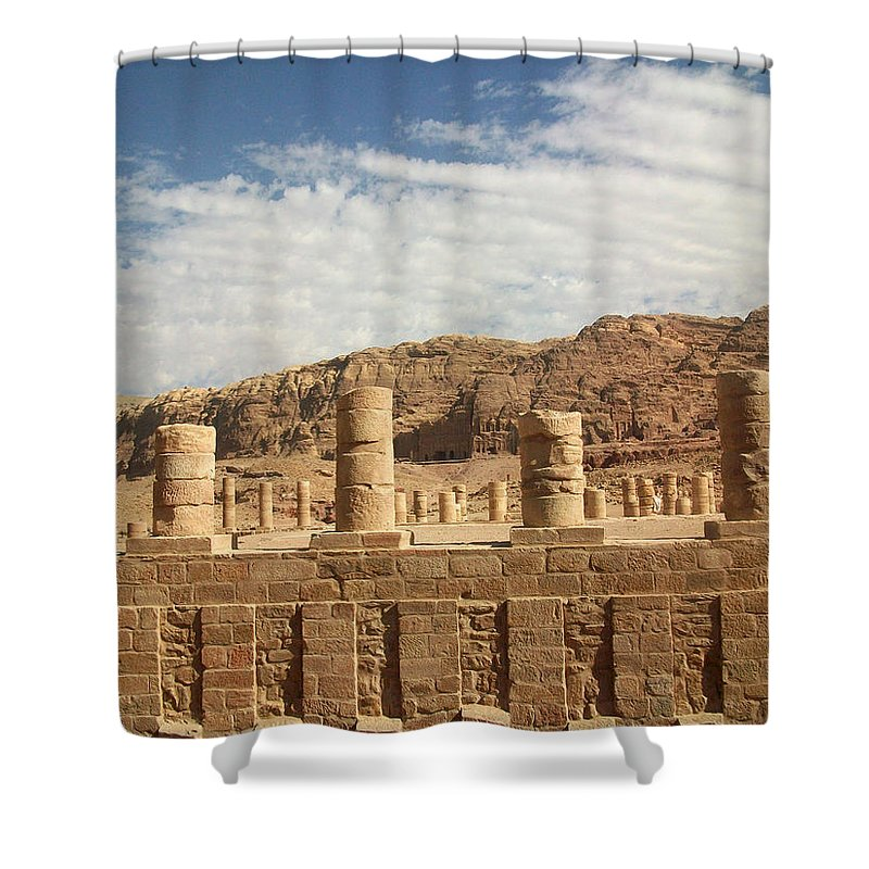 Petra Shower Curtain featuring the photograph Petra Sky by Munir Alawi