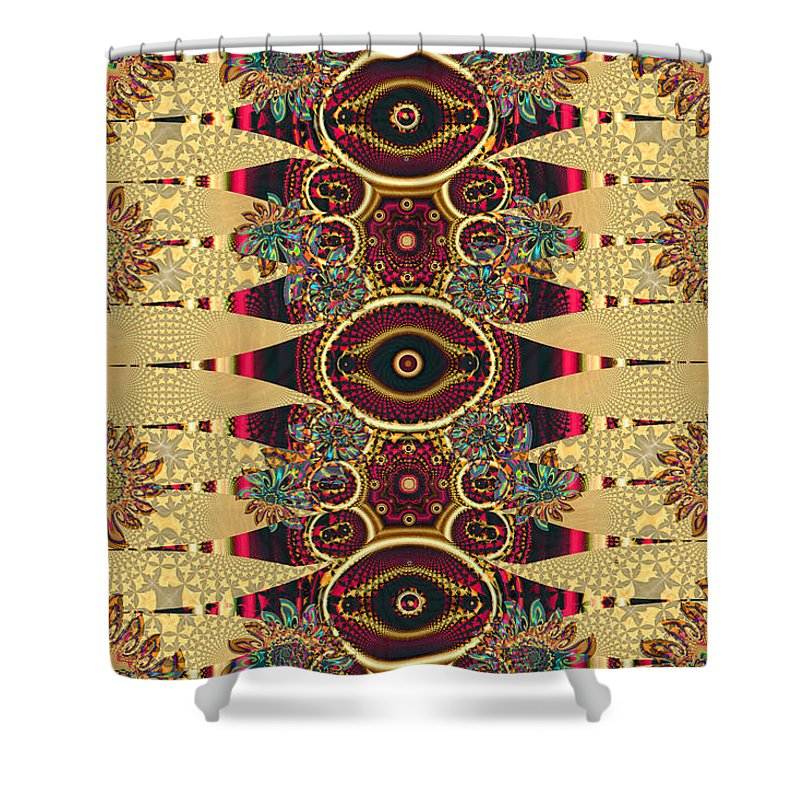Best Modern Art Shower Curtain featuring the digital art Petty Four And Five by Jim Pavelle