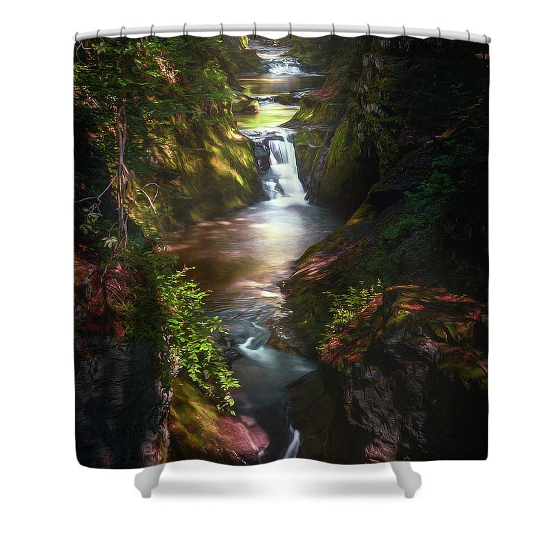 Landscape Shower Curtain featuring the photograph Pewitts Nest by Scott Norris