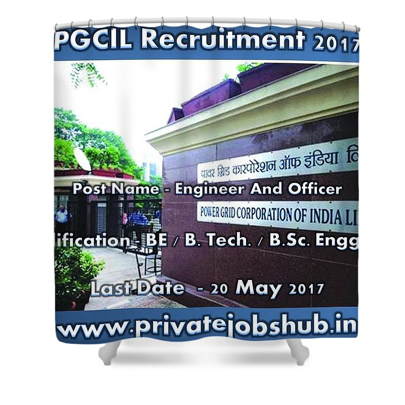 Pgcil Recruitment Shower Curtain featuring the photograph Pgcil Recruitment by Private Jobs Hub
