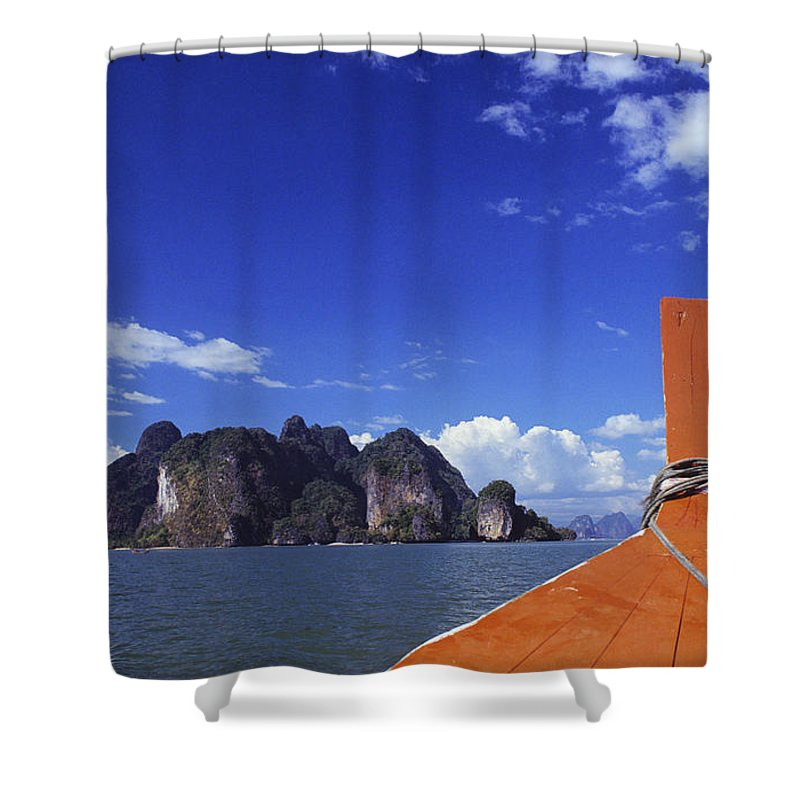 Bay Shower Curtain featuring the photograph Phagna Bay by William Waterfall - Printscapes