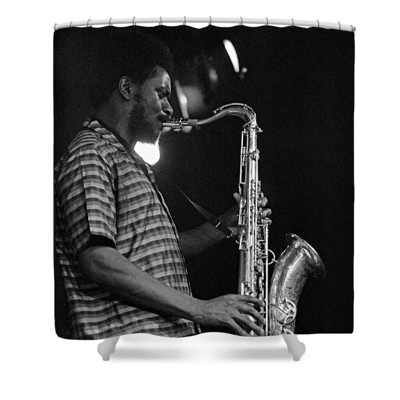Pharoah Sanders Shower Curtain featuring the photograph Pharoah Sanders 2 by Lee Santa