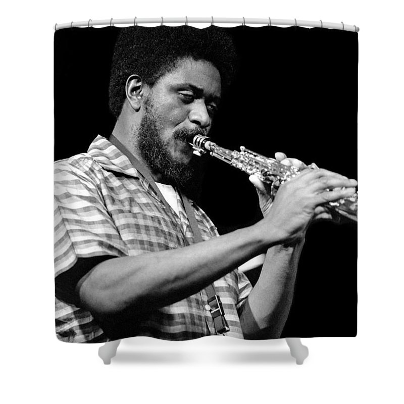 Pharoah Sanders Shower Curtain featuring the photograph Pharoah Sanders 3 by Lee Santa