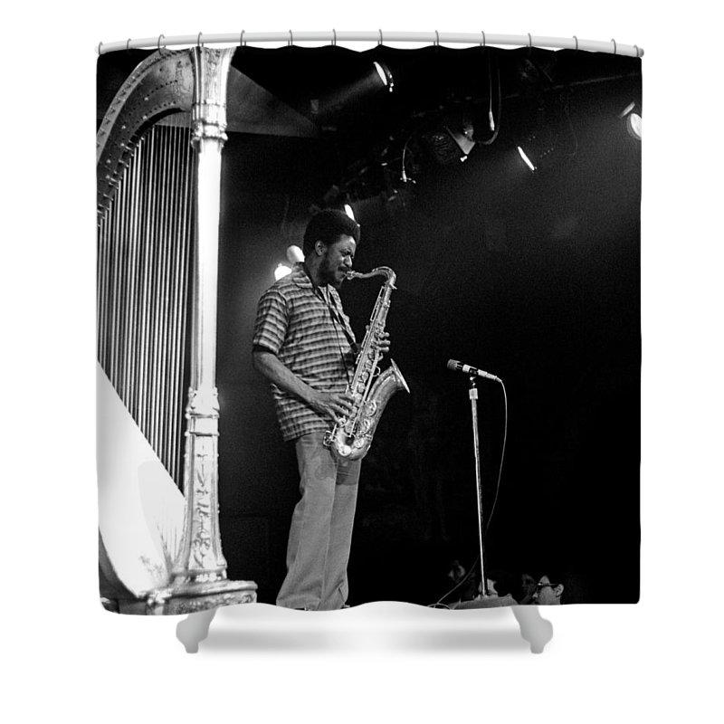 Pharoah Sanders Shower Curtain featuring the photograph Pharoah Sanders 5 by Lee Santa