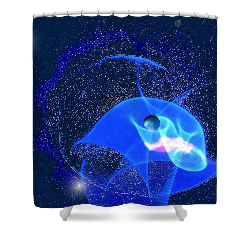 Space Shower Curtain featuring the digital art Phenomenon by Steve Karol