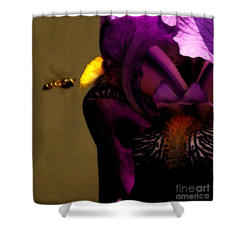 Bee Shower Curtain featuring the photograph Pheromone by Linda Shafer