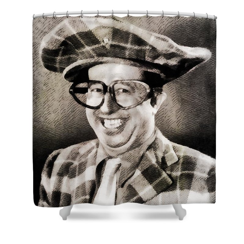 Hollywood Shower Curtain featuring the painting Phil Silvers, Comedy Legend by John Springfield