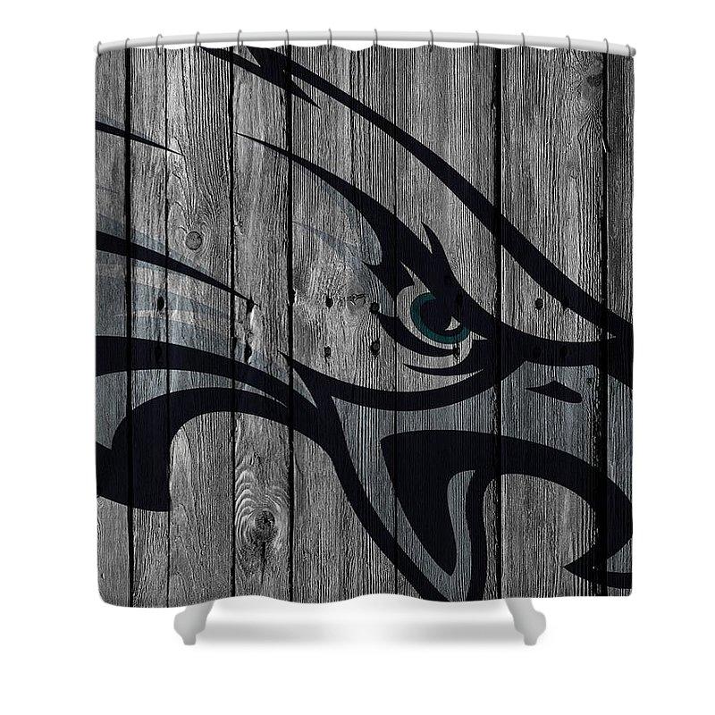 Philadelphia Eagles Wood Fence Shower Curtain For Sale By Joe Hamilton