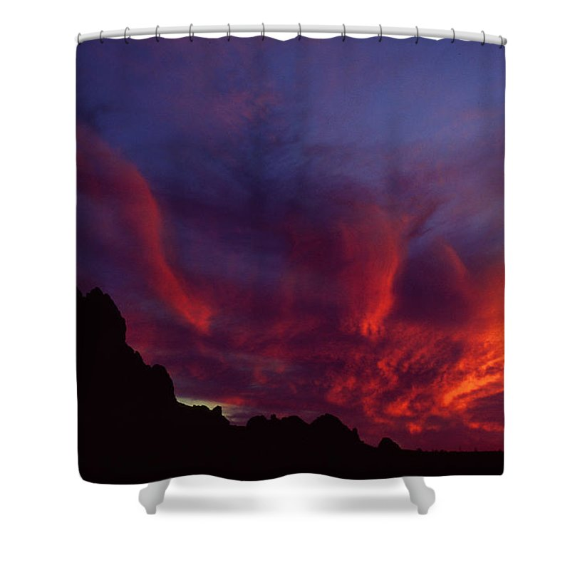 Arizona Shower Curtain featuring the photograph Phoenix Risen by Randy Oberg
