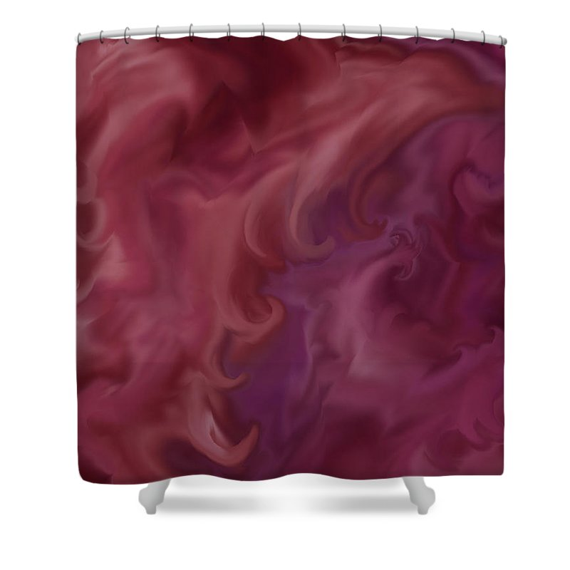 Fantasy Shower Curtain featuring the painting Phoenix Rising by Anne Norskog