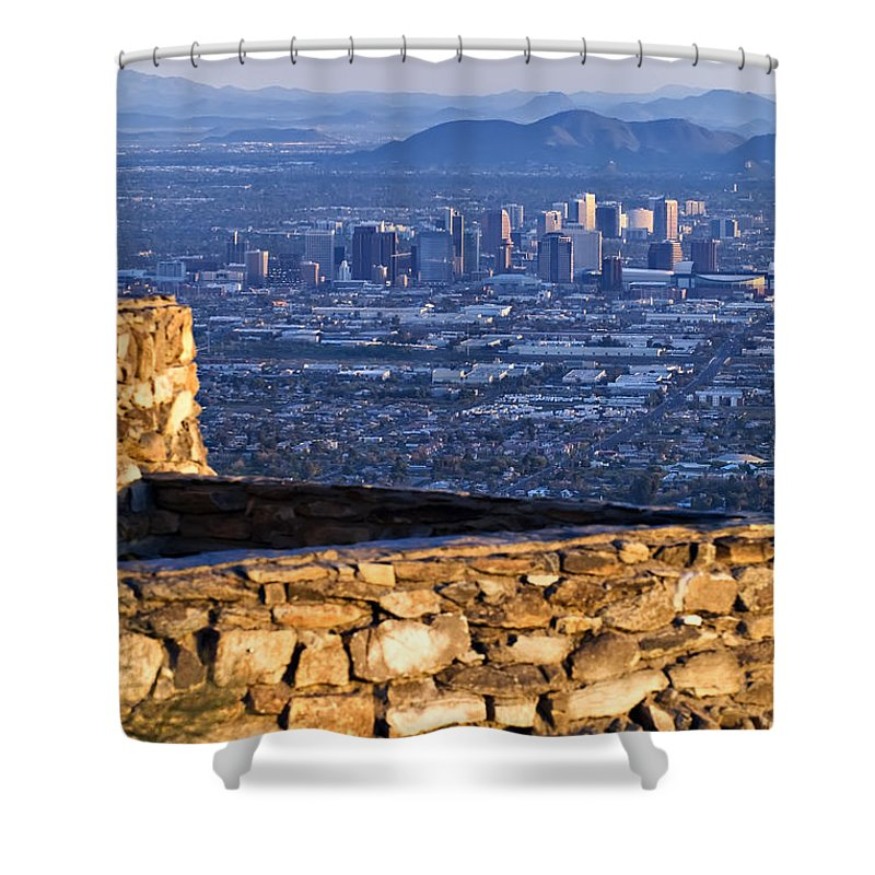 Phoenix Shower Curtain featuring the photograph Phoenix Sunrise by Renee Hong