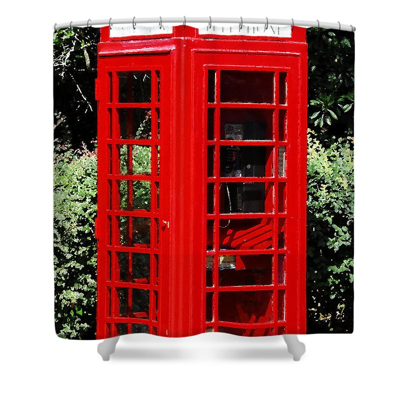 Phone Booth Shower Curtain featuring the photograph Phone Booth by David Lee Thompson