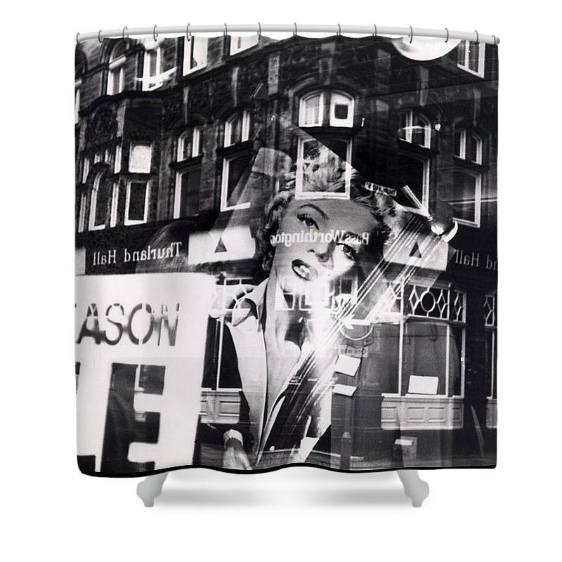Marilyn Shower Curtain featuring the photograph Photograph Of Marilyn by Charles Stuart