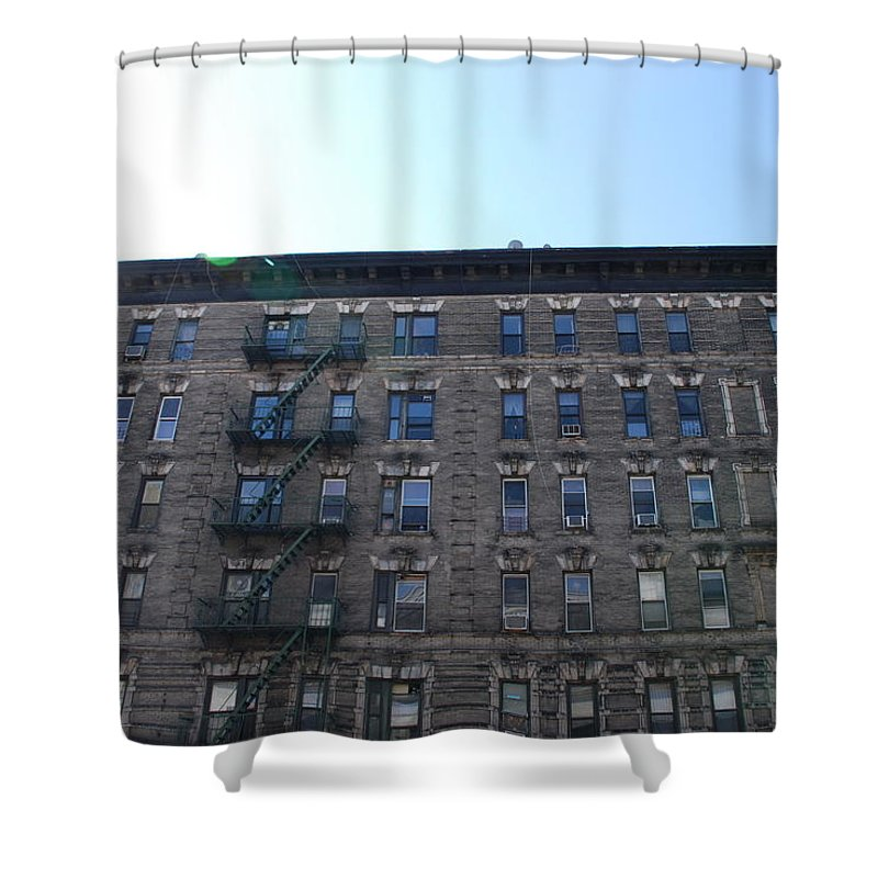 Architecture Shower Curtain featuring the photograph Physical Graffitti by Rob Hans