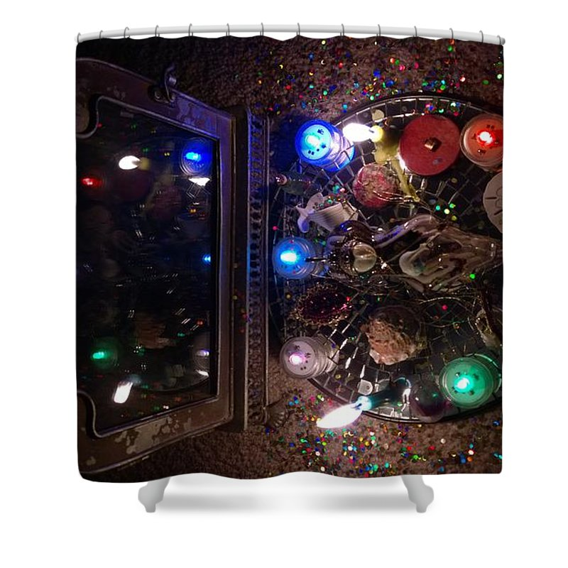 Shower Curtain featuring the painting Pic 1 by Judy Henninger