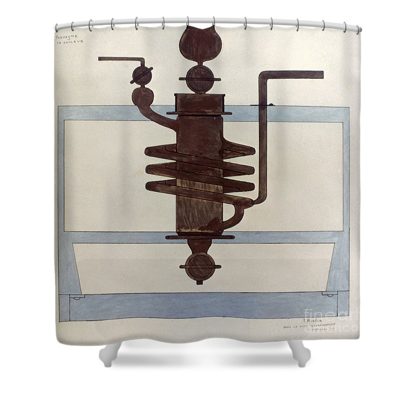 1915 Shower Curtain featuring the photograph Picabia: Paroxyme, 1915 by Granger