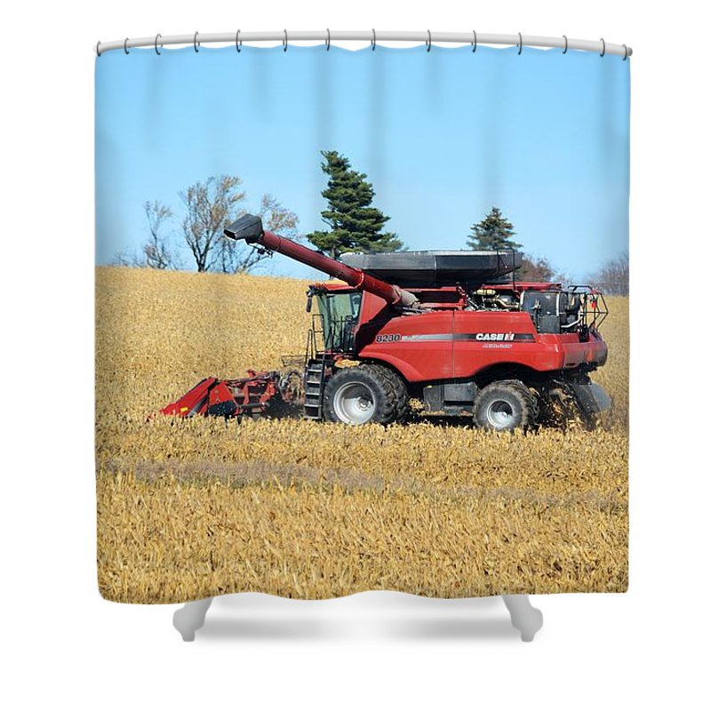 Harvest Shower Curtain featuring the photograph Picking Corn by Bonfire Photography