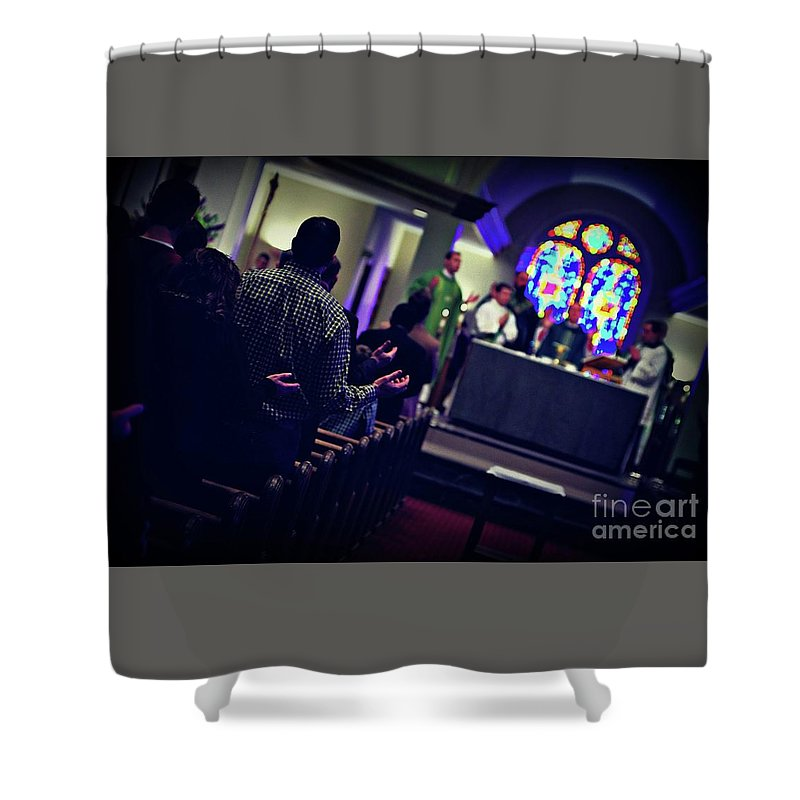 Our Father Shower Curtain featuring the photograph Picture Of Faith by Frank J Casella
