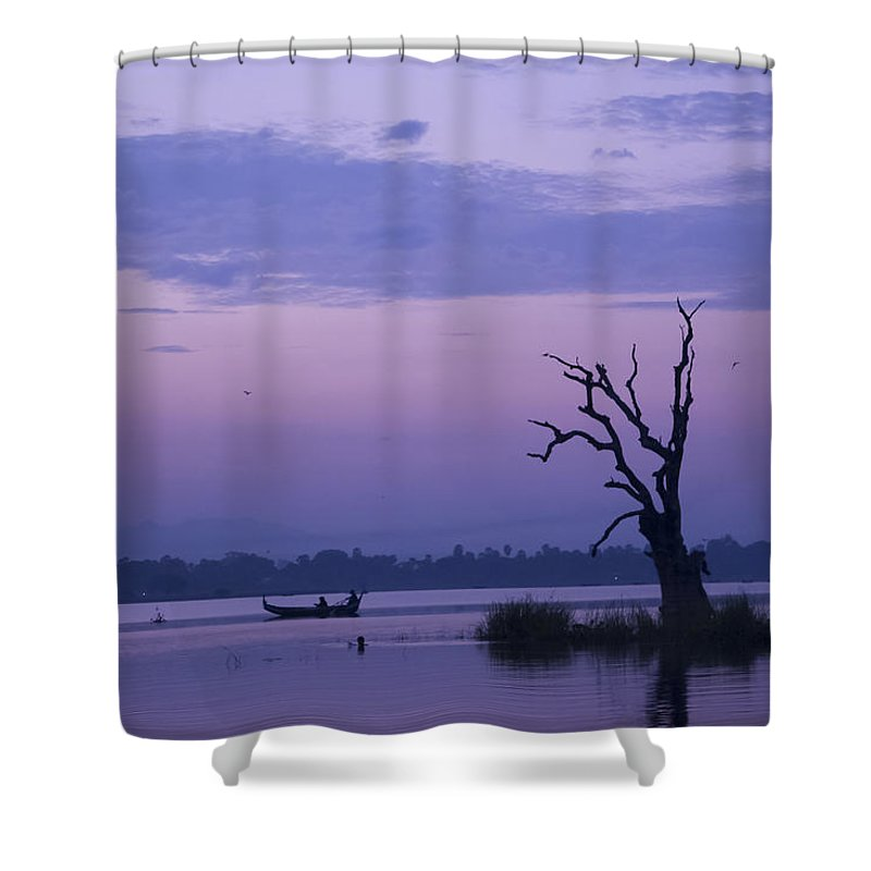 Tranquility By Valerie Trot Shower Curtain featuring the photograph Tranquility by Valeria New