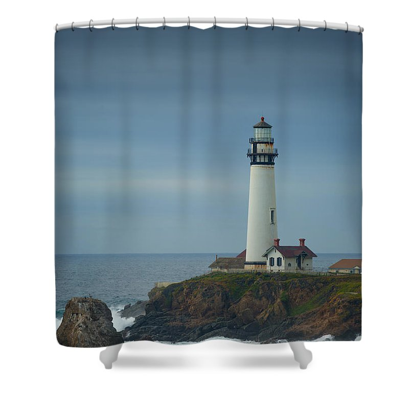 Lighthouse Shower Curtain featuring the photograph Pidgeon Point Lighthouse by Konstantin Sutyagin