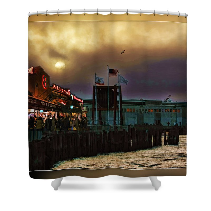 Pier 39 Shower Curtain featuring the photograph Pier 39 In San Francisco by Blake Richards